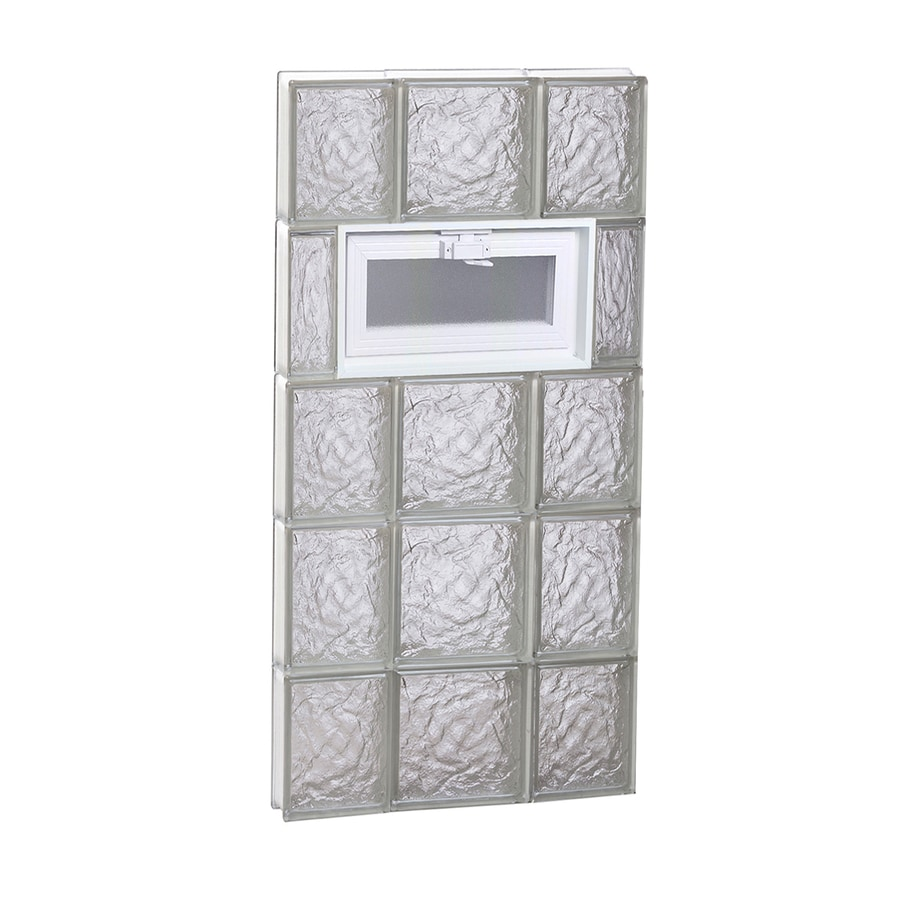 REDI2SET Ice Glass Pattern Frameless Replacement Glass Block Window (Rough Opening: 20-in x 40-in; Actual: 19.25-in x 38.75-in)