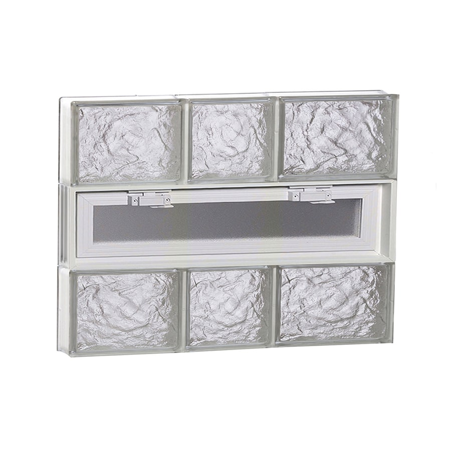 REDI2SET Ice Glass Pattern Frameless Replacement Glass Block Window (Rough Opening: 22-in x 18-in; Actual: 21.25-in x 17.25-in)