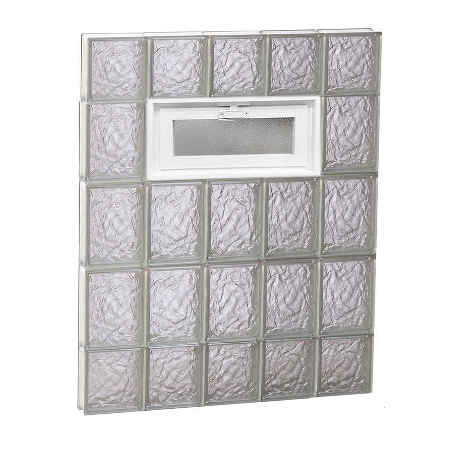 REDI2SET Ice Glass Pattern Frameless Replacement Glass Block Window (Rough Opening: 30-in x 36-in; Actual: 28.75-in x 34.75-in)