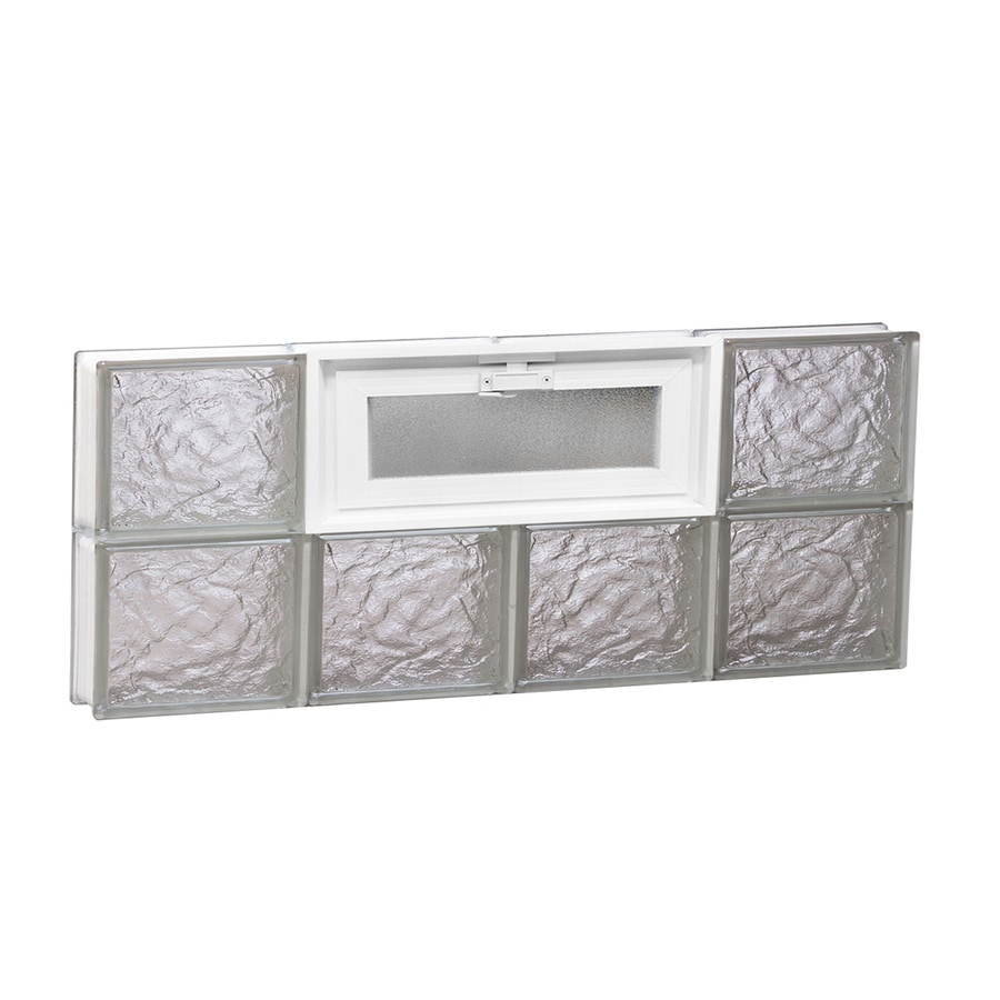 REDI2SET Ice Glass Pattern Frameless Replacement Glass Block Window (Rough Opening: 32-in x 12-in; Actual: 31-in x 11.5-in)