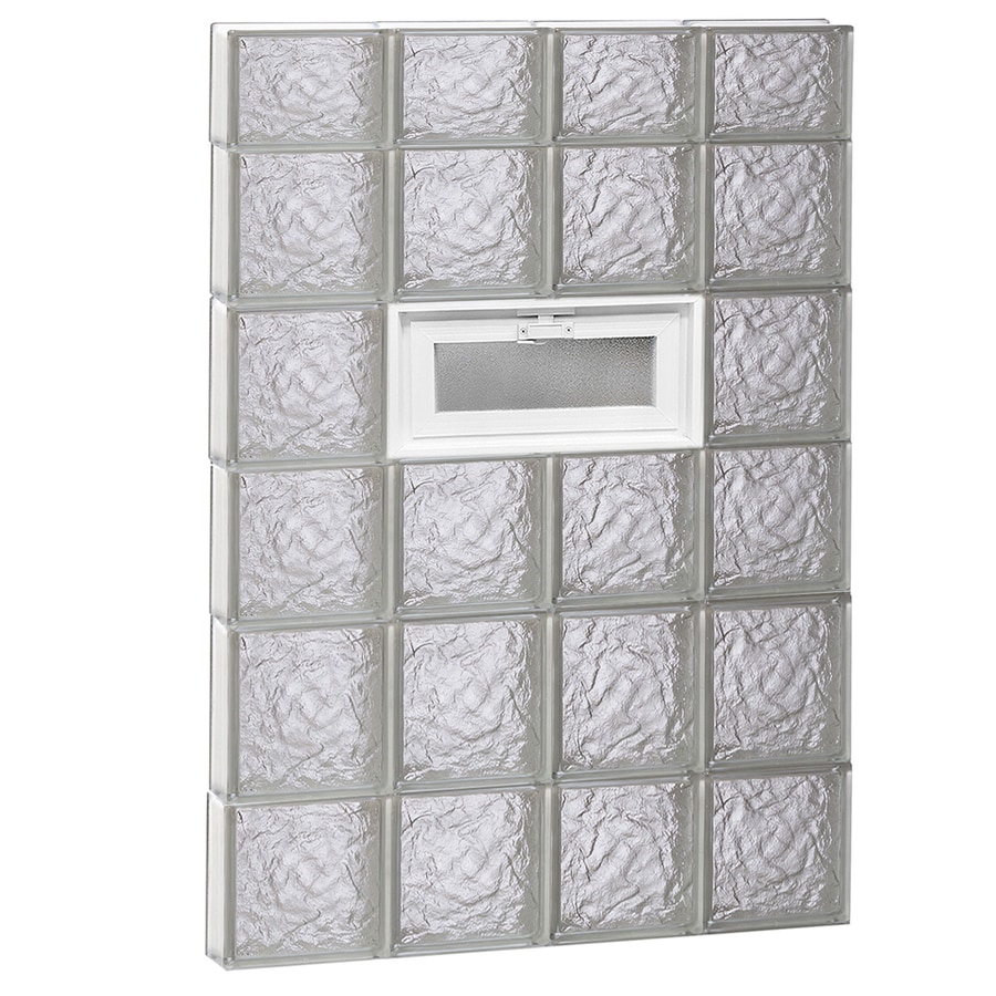 REDI2SET Ice Glass Pattern Frameless Replacement Glass Block Window (Rough Opening: 32-in x 46-in; Actual: 31-in x 44.5-in)