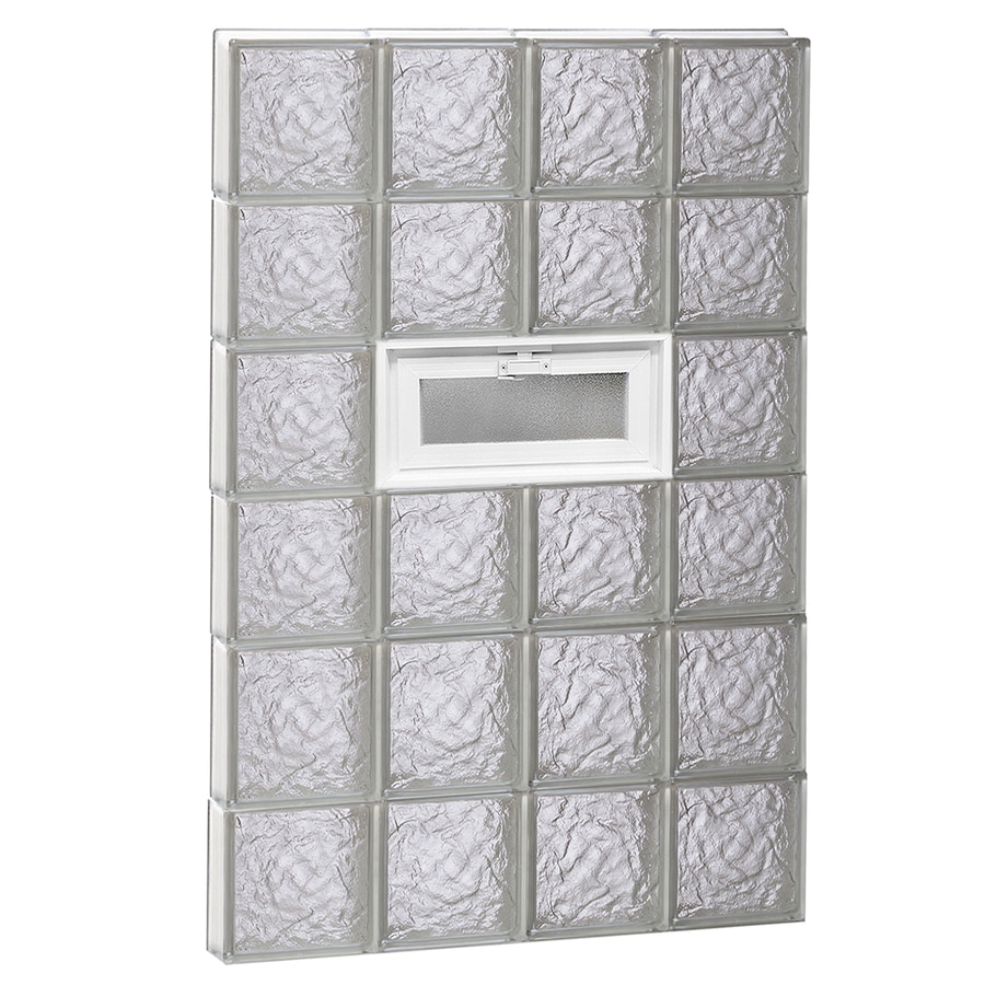 REDI2SET Ice Glass Pattern Frameless Replacement Glass Block Window (Rough Opening: 32-in x 48-in; Actual: 31-in x 46.5-in)