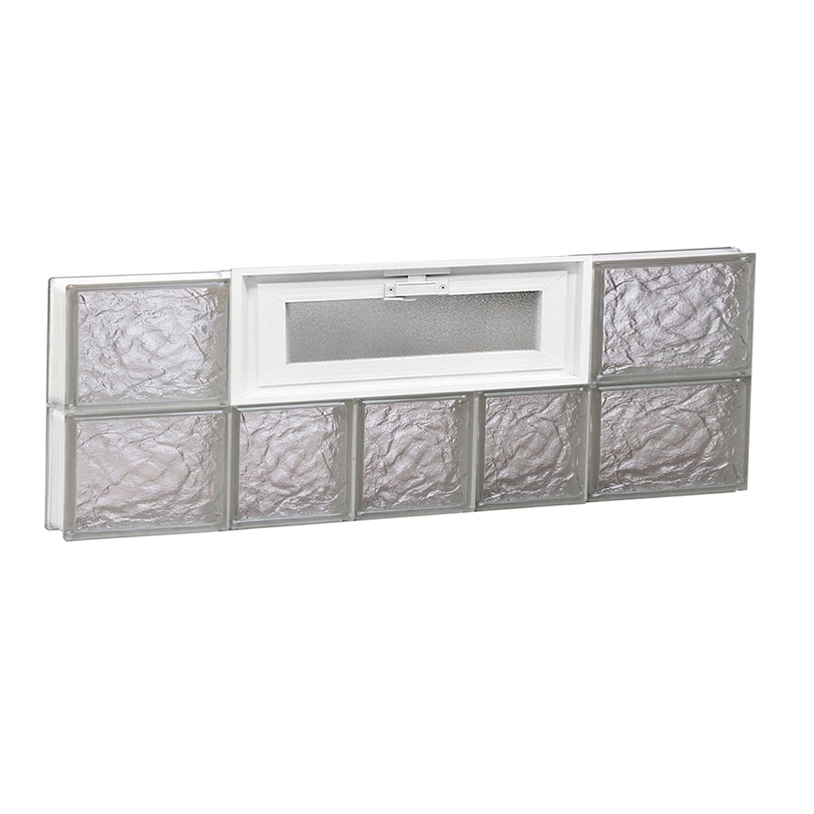 REDI2SET Ice Glass Pattern Frameless Replacement Glass Block Window (Rough Opening: 34-in x 12-in; Actual: 32.75-in x 11.5-in)