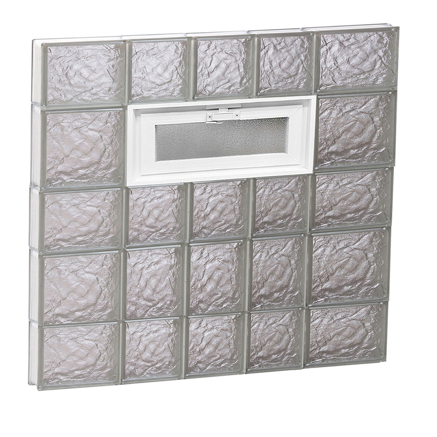 REDI2SET Ice Glass Pattern Frameless Replacement Glass Block Window (Rough Opening: 34-in x 34-in; Actual: 32.75-in x 32.75-in)