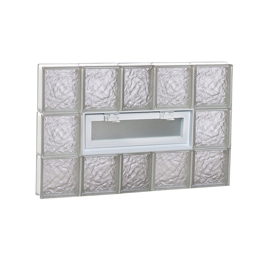 REDI2SET Ice Glass Pattern Frameless Replacement Glass Block Window (Rough Opening: 38-in x 24-in; Actual: 36.75-in x 23.25-in)