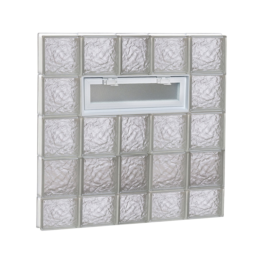 REDI2SET Ice Glass Pattern Frameless Replacement Glass Block Window (Rough Opening: 38-in x 38-in; Actual: 36.75-in x 36.75-in)