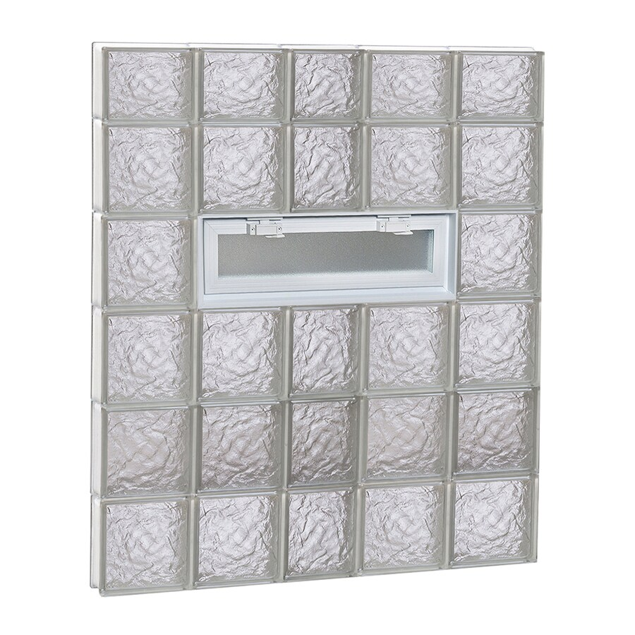 REDI2SET Ice Glass Pattern Frameless Replacement Glass Block Window (Rough Opening: 38-in x 46-in; Actual: 36.75-in x 44.5-in)