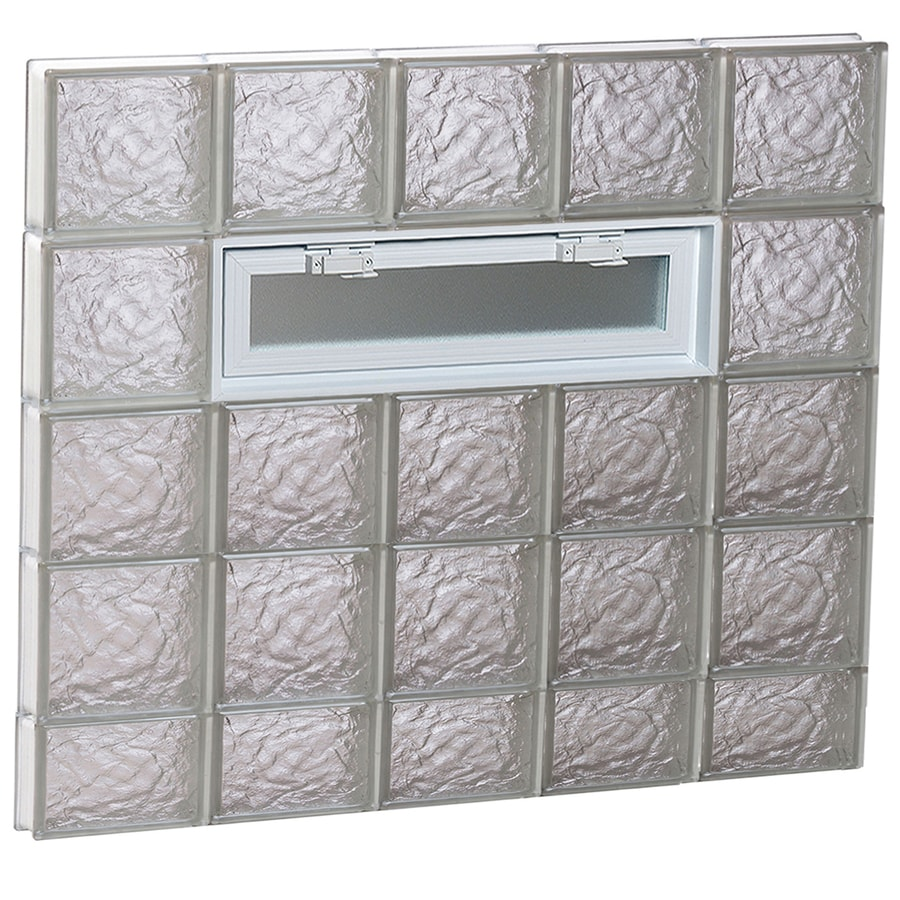 REDI2SET Ice Glass Pattern Frameless Replacement Glass Block Window (Rough Opening: 40-in x 38-in; Actual: 38.75-in x 36.75-in)