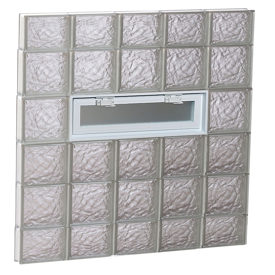 REDI2SET Ice Glass Pattern Frameless Replacement Glass Block Window (Rough Opening: 40-in x 44-in; Actual: 38.75-in x 42.5-in)