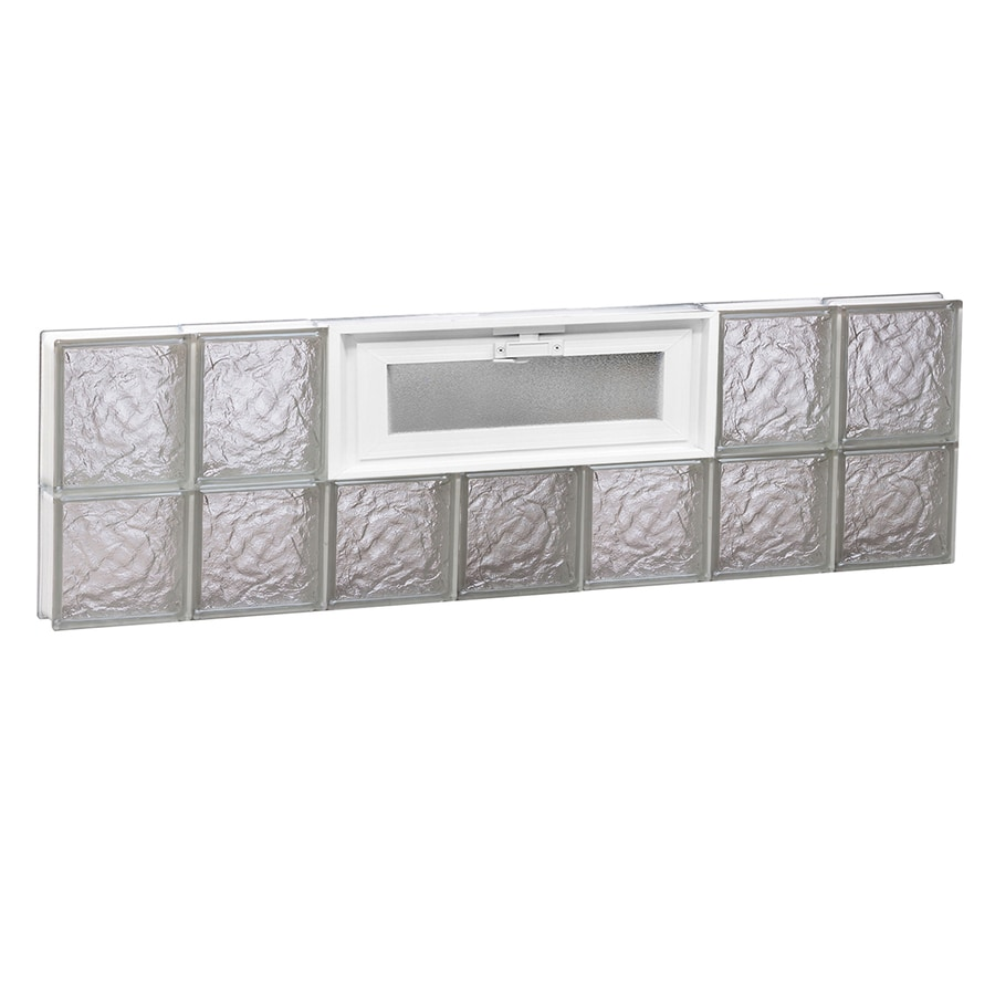 REDI2SET Ice Glass Pattern Frameless Replacement Glass Block Window (Rough Opening: 42-in x 14-in; Actual: 40.25-in x 13.5-in)