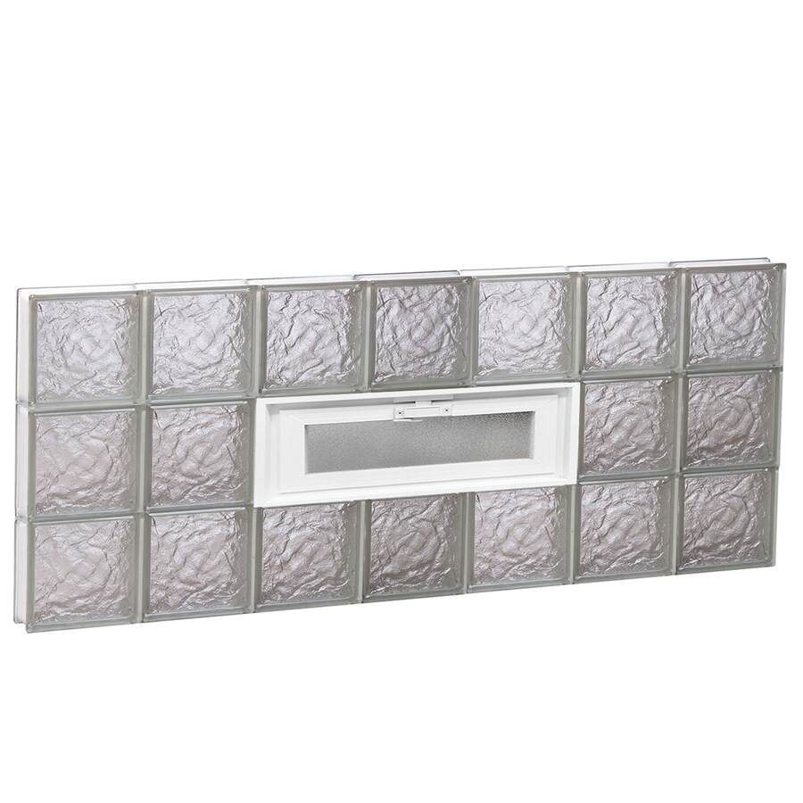 REDI2SET Ice Glass Pattern Frameless Replacement Glass Block Window (Rough Opening: 42-in x 18-in; Actual: 40.25-in x 17.25-in)