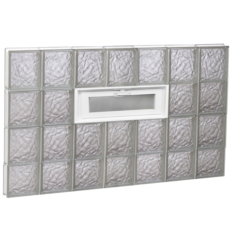 REDI2SET Ice Glass Pattern Frameless Replacement Glass Block Window (Rough Opening: 42-in x 30-in; Actual: 40.25-in x 29-in)