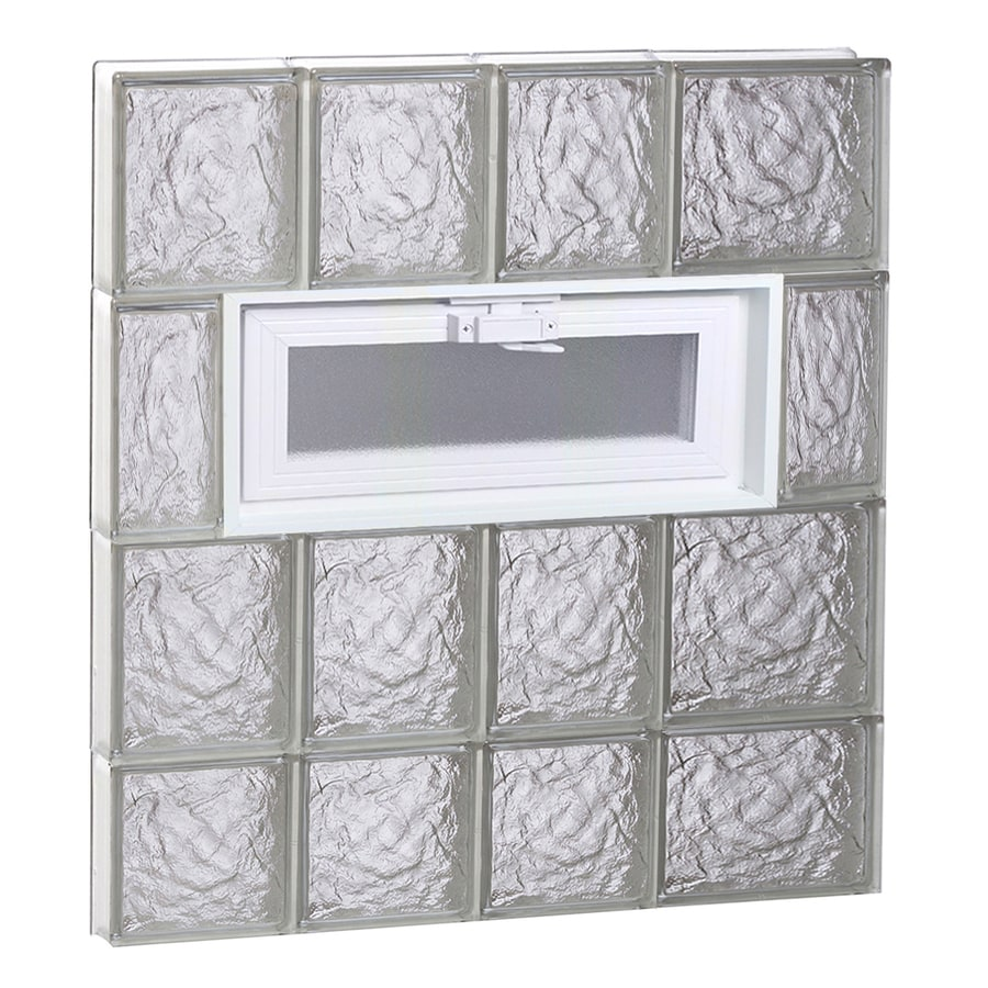 REDI2SET Ice Glass Pattern Frameless Replacement Glass Block Window (Rough Opening: 26-in x 30-in; Actual: 25-in x 29-in)