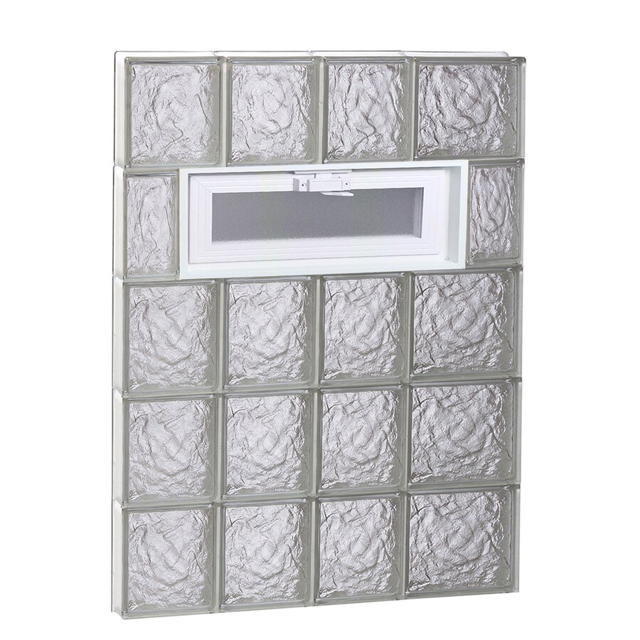 REDI2SET Ice Glass Pattern Frameless Replacement Glass Block Window (Rough Opening: 26-in x 40-in; Actual: 25-in x 38.75-in)