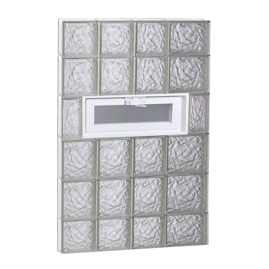 REDI2SET Ice Glass Pattern Frameless Replacement Glass Block Window (Rough Opening: 26-in x 44-in; Actual: 25-in x 42.5-in)