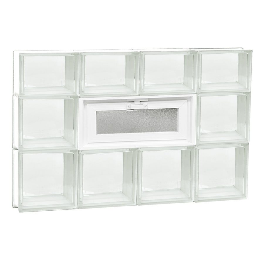 REDI2SET Clear Glass Pattern Frameless Replacement Glass Block Window (Rough Opening: 32-in x 22-in; Actual: 31-in x 21.25-in)