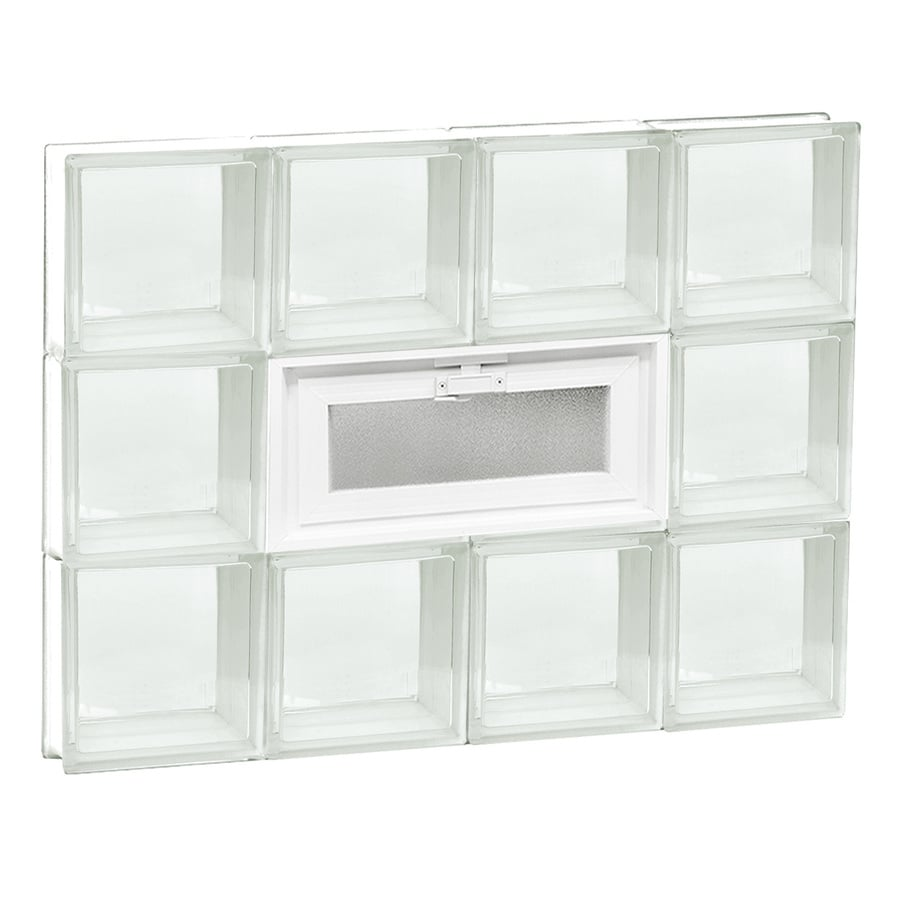 REDI2SET Clear Glass Pattern Frameless Replacement Glass Block Window (Rough Opening: 32-in x 24-in; Actual: 31-in x 23.25-in)