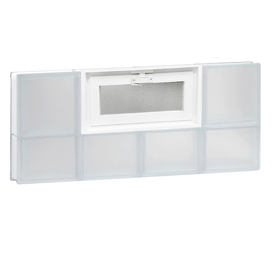 REDI2SET Frosted Glass Pattern Frameless Replacement Glass Block Window (Rough Opening: 32-in x 14-in; Actual: 31-in x 13.5-in)
