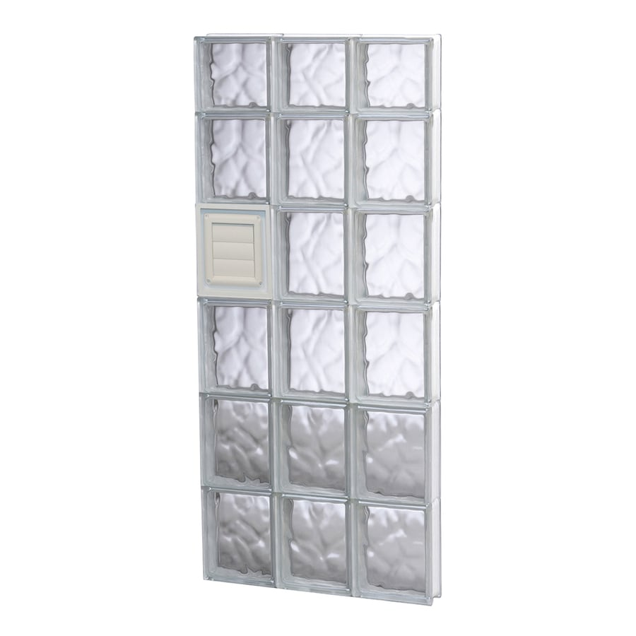 REDI2SET Wavy Glass Pattern Frameless Replacement Glass Block Window (Rough Opening: 18-in x 46-in; Actual: 17.25-in x 44.5-in)