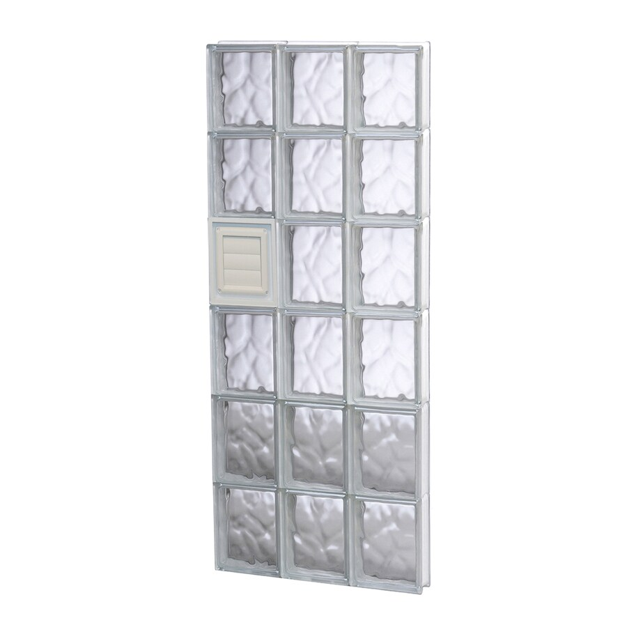 REDI2SET Wavy Glass Pattern Frameless Replacement Glass Block Window (Rough Opening: 18-in x 48-in; Actual: 17.25-in x 46.5-in)