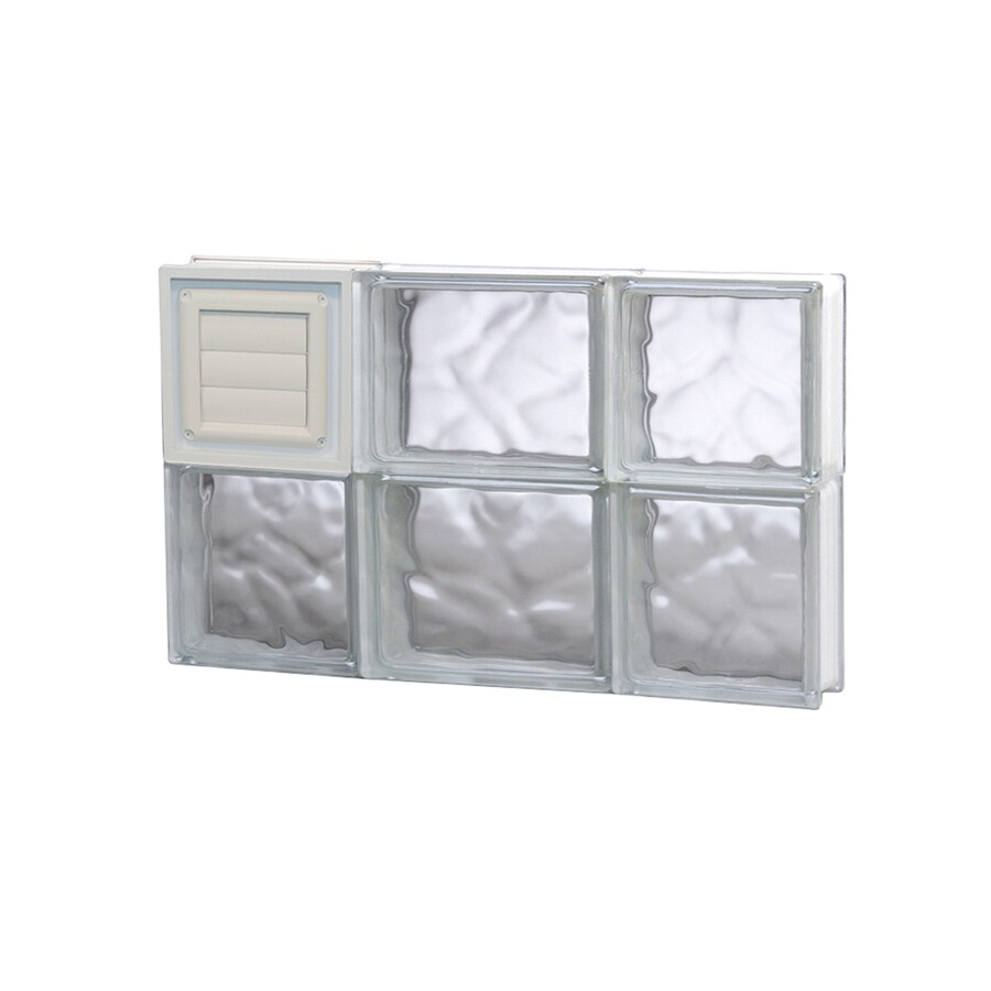 REDI2SET Wavy Glass Pattern Frameless Replacement Glass Block Window (Rough Opening: 20-in x 12-in; Actual: 19.25-in x 11.5-in)