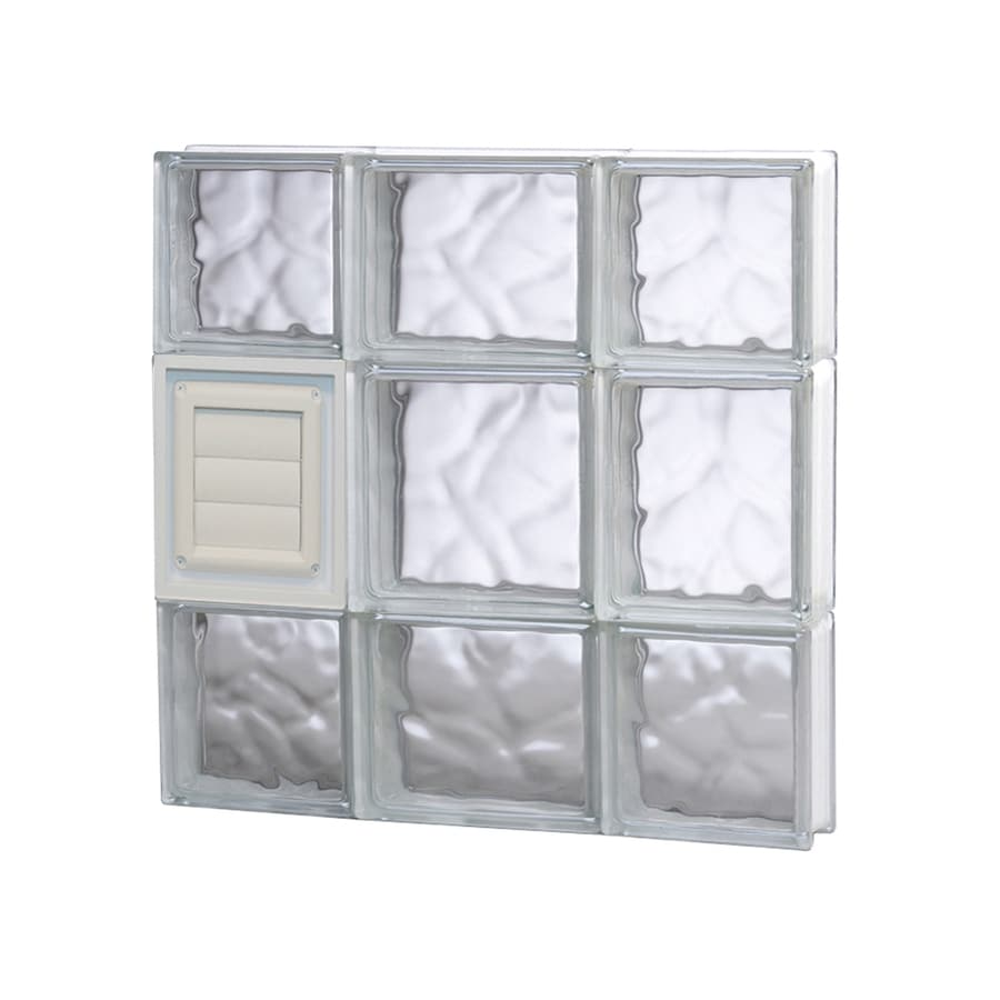 REDI2SET Wavy Glass Pattern Frameless Replacement Glass Block Window (Rough Opening: 20-in x 20-in; Actual: 19.25-in x 19.25-in)