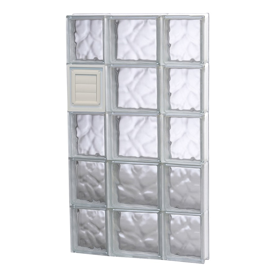 REDI2SET Wavy Glass Pattern Frameless Replacement Glass Block Window (Rough Opening: 20-in x 40-in; Actual: 19.25-in x 38.75-in)