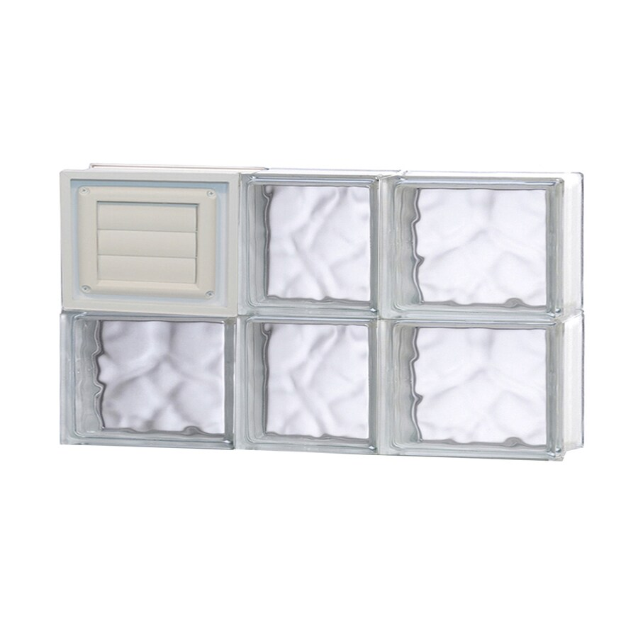 REDI2SET Wavy Glass Pattern Frameless Replacement Glass Block Window (Rough Opening: 22-in x 12-in; Actual: 21.25-in x 11.5-in)