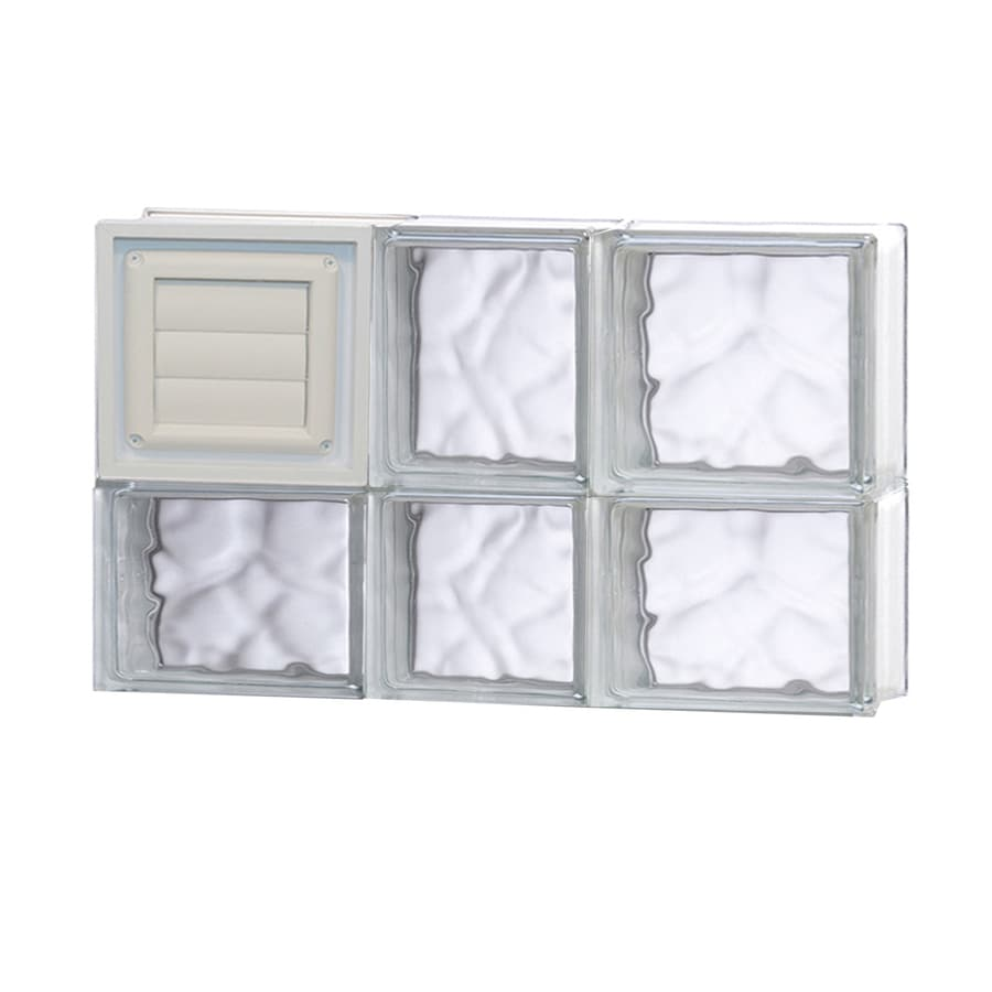 REDI2SET Wavy Glass Pattern Frameless Replacement Glass Block Window (Rough Opening: 22-in x 14-in; Actual: 21.25-in x 13.5-in)