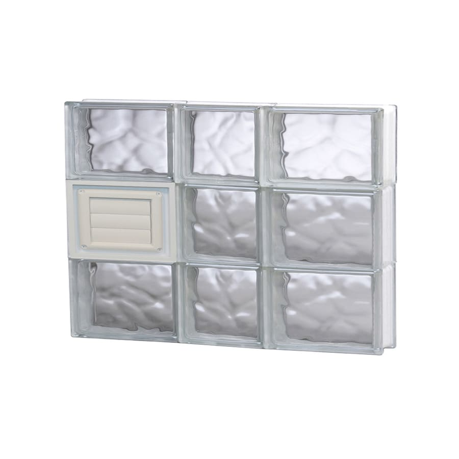 REDI2SET Wavy Glass Pattern Frameless Replacement Glass Block Window (Rough Opening: 22-in x 18-in; Actual: 21.25-in x 17.25-in)