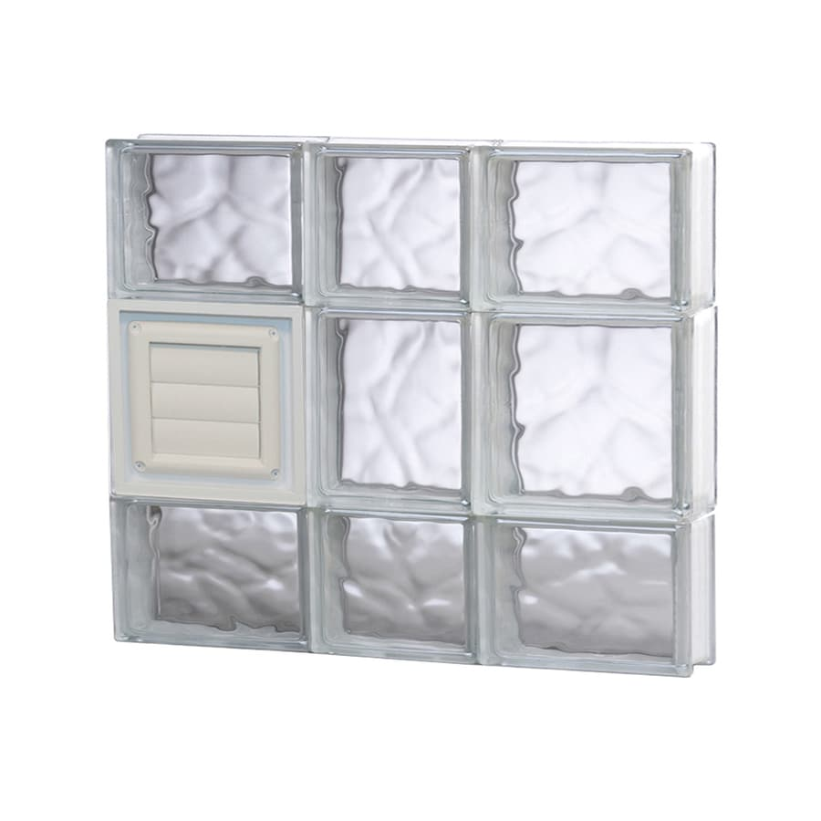 REDI2SET Wavy Glass Pattern Frameless Replacement Glass Block Window (Rough Opening: 22-in x 20-in; Actual: 21.25-in x 19.25-in)