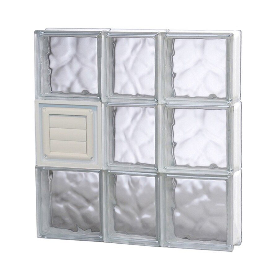 REDI2SET Wavy Glass Pattern Frameless Replacement Glass Block Window (Rough Opening: 22-in x 24-in; Actual: 21.25-in x 23.25-in)