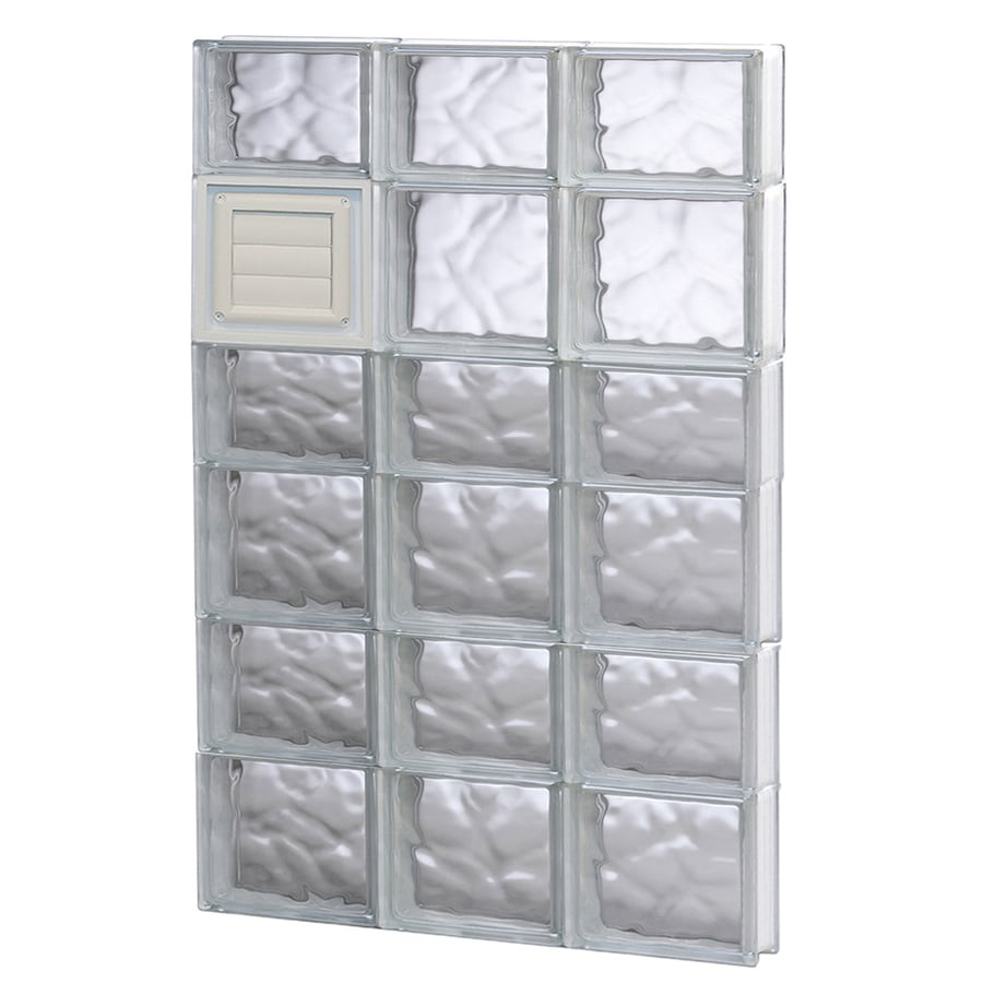 REDI2SET Wavy Glass Pattern Frameless Replacement Glass Block Window (Rough Opening: 24-in x 42-in; Actual: 23.25-in x 40.5-in)