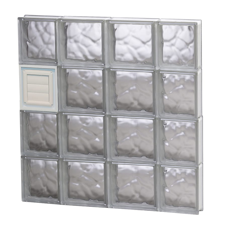 REDI2SET Wavy Glass Pattern Frameless Replacement Glass Block Window (Rough Opening: 28-in x 32-in; Actual: 27-in x 31-in)