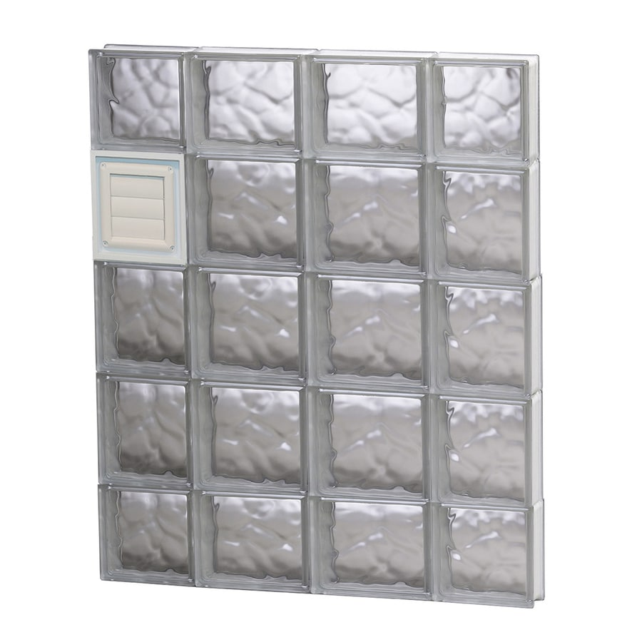 REDI2SET Wavy Glass Pattern Frameless Replacement Glass Block Window (Rough Opening: 28-in x 36-in; Actual: 27-in x 34.75-in)
