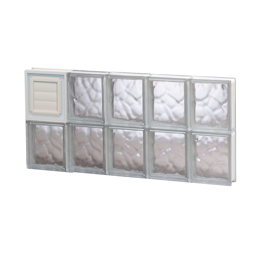 REDI2SET Wavy Glass Pattern Frameless Replacement Glass Block Window (Rough Opening: 30-in x 16-in; Actual: 28.75-in x 15.5-in)