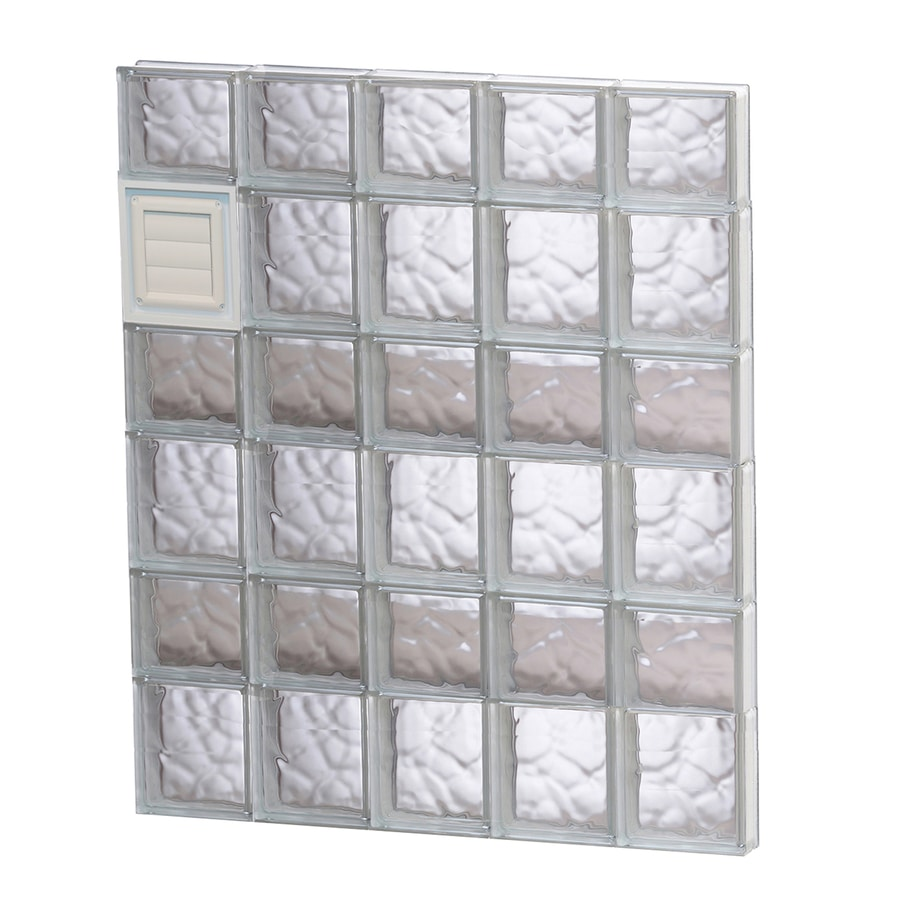 REDI2SET Wavy Glass Pattern Frameless Replacement Glass Block Window (Rough Opening: 30-in x 42-in; Actual: 28.75-in x 40.5-in)