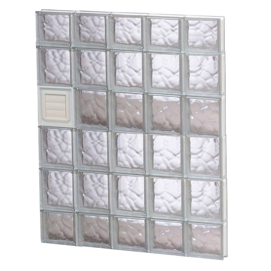 REDI2SET Wavy Glass Pattern Frameless Replacement Glass Block Window (Rough Opening: 30-in x 44-in; Actual: 28.75-in x 42.5-in)
