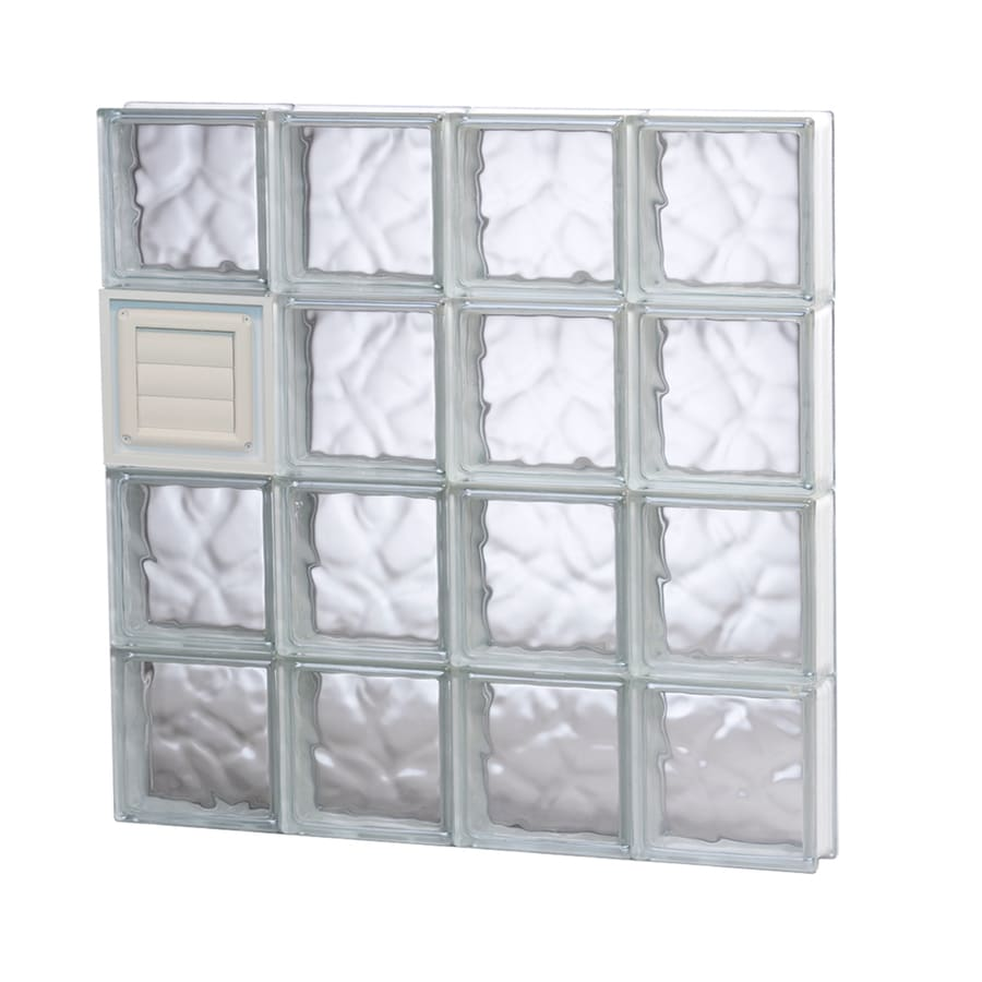 REDI2SET Wavy Glass Pattern Frameless Replacement Glass Block Window (Rough Opening: 32-in x 32-in; Actual: 31-in x 31-in)