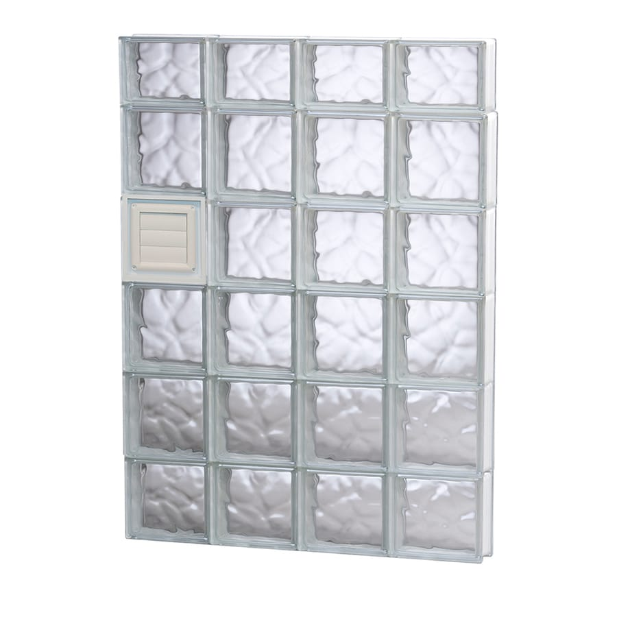 REDI2SET Wavy Glass Pattern Frameless Replacement Glass Block Window (Rough Opening: 32-in x 46-in; Actual: 31-in x 44.5-in)