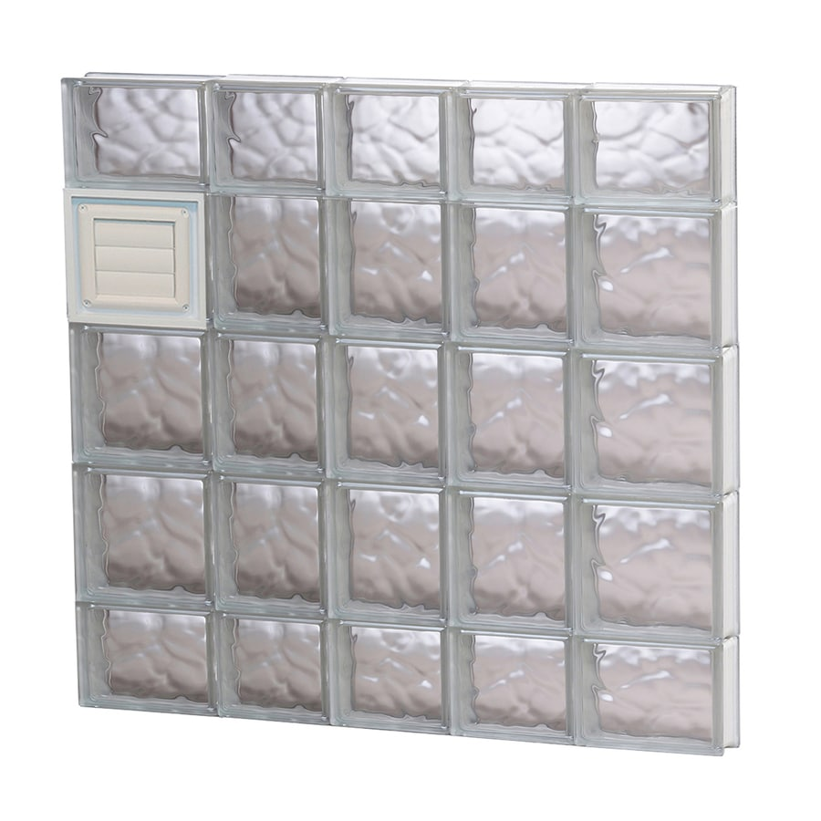 REDI2SET Wavy Glass Pattern Frameless Replacement Glass Block Window (Rough Opening: 34-in x 36-in; Actual: 32.75-in x 34.75-in)