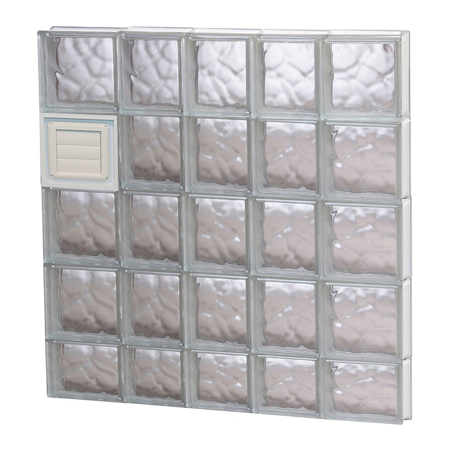 REDI2SET Wavy Glass Pattern Frameless Replacement Glass Block Window (Rough Opening: 34-in x 38-in; Actual: 32.75-in x 36.75-in)
