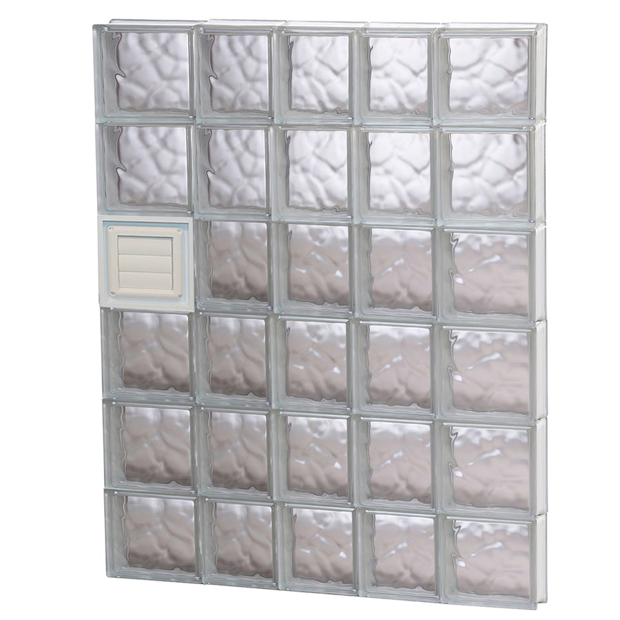 REDI2SET Wavy Glass Pattern Frameless Replacement Glass Block Window (Rough Opening: 34-in x 48-in; Actual: 32.75-in x 46.5-in)