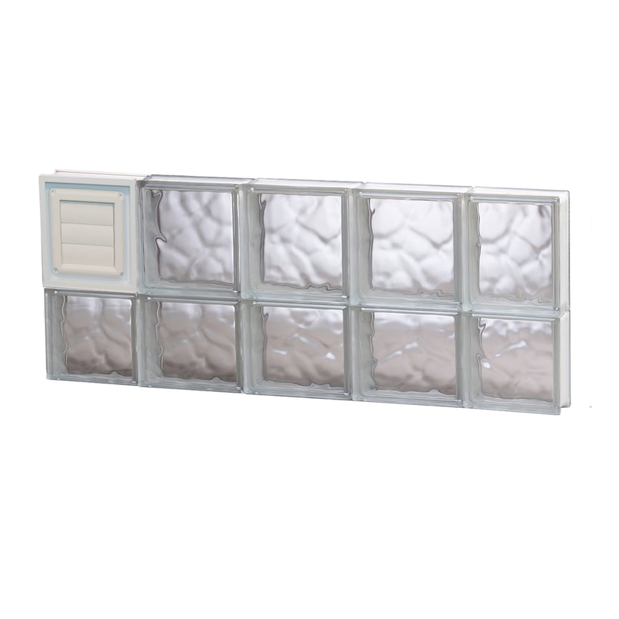 REDI2SET Wavy Glass Pattern Frameless Replacement Glass Block Window (Rough Opening: 36-in x 14-in; Actual: 34.75-in x 13.5-in)