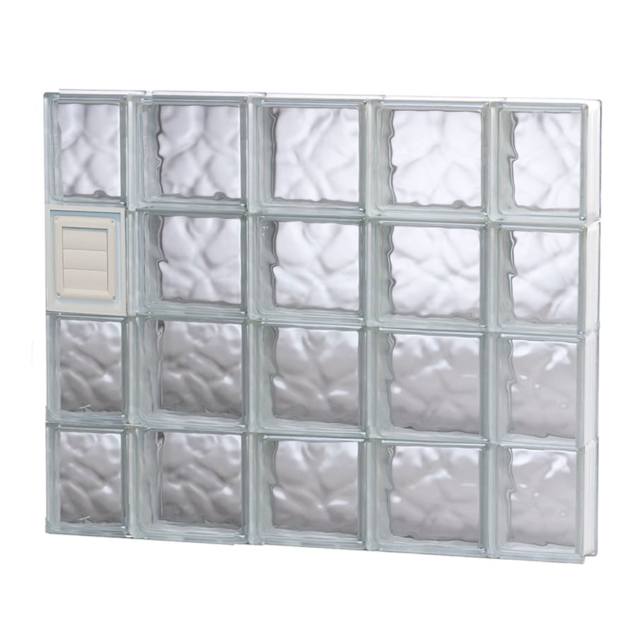 REDI2SET Wavy Glass Pattern Frameless Replacement Glass Block Window (Rough Opening: 36-in x 32-in; Actual: 34.75-in x 31-in)