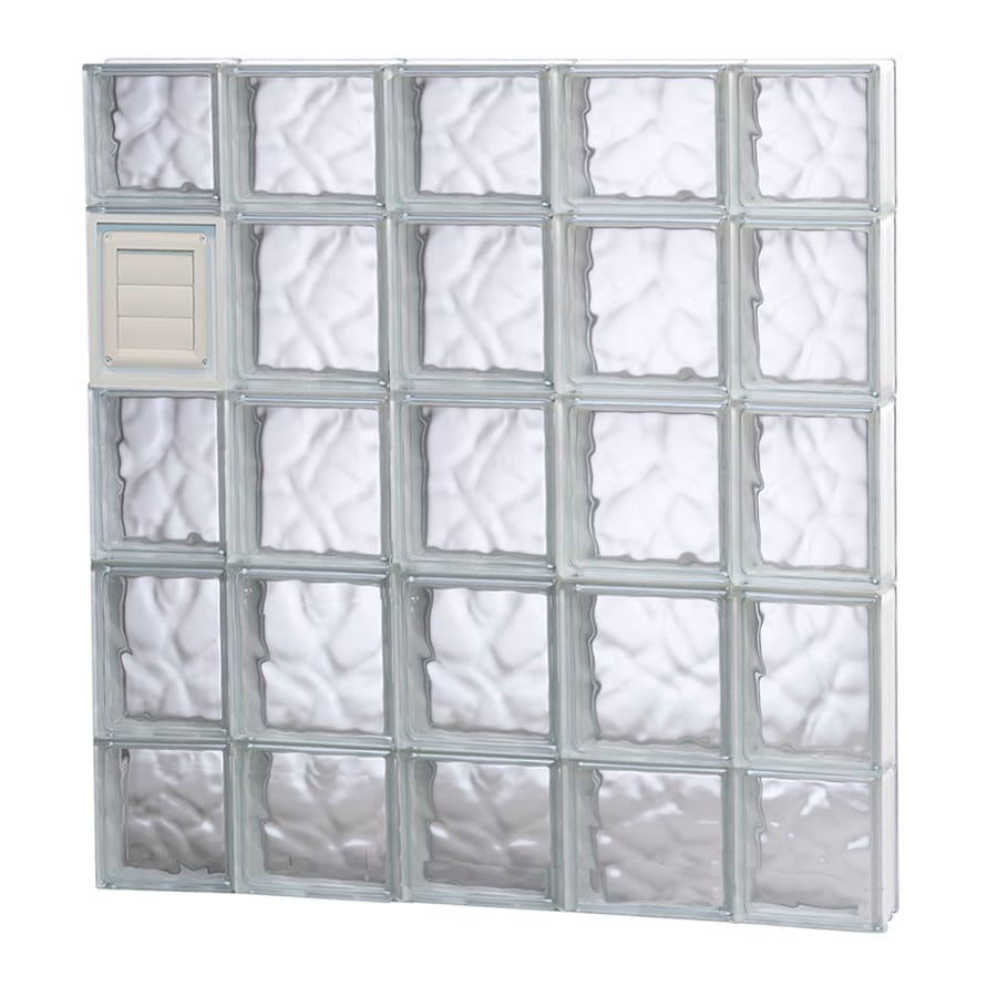 REDI2SET Wavy Glass Pattern Frameless Replacement Glass Block Window (Rough Opening: 36-in x 36-in; Actual: 34.75-in x 34.75-in)