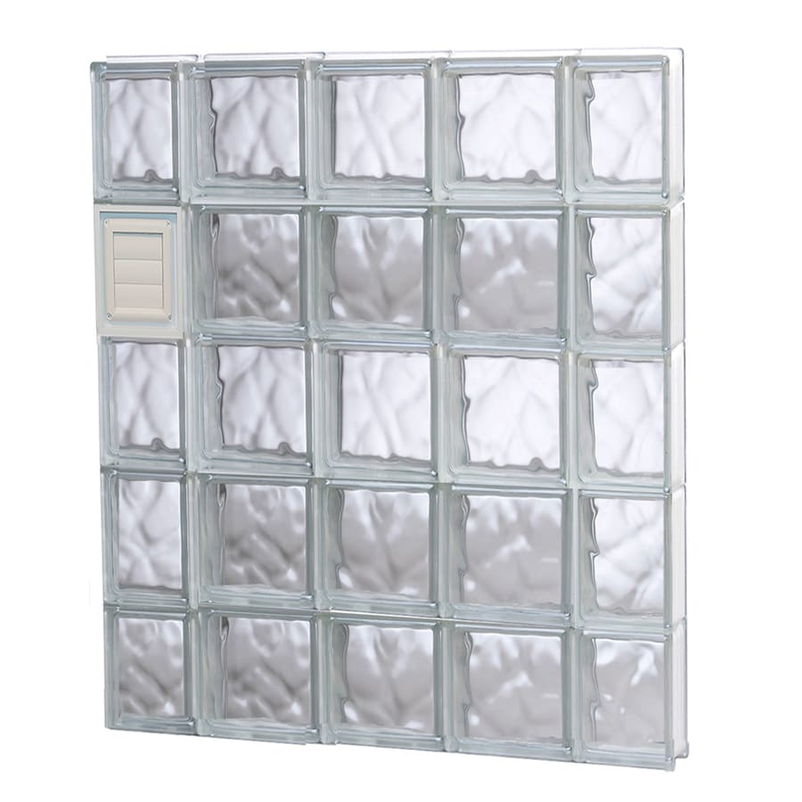 REDI2SET Wavy Glass Pattern Frameless Replacement Glass Block Window (Rough Opening: 36-in x 40-in; Actual: 34.75-in x 38.75-in)