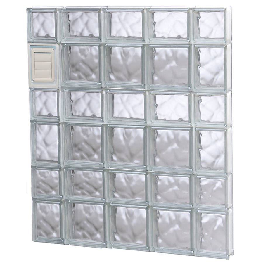 REDI2SET Wavy Glass Pattern Frameless Replacement Glass Block Window (Rough Opening: 36-in x 42-in; Actual: 34.75-in x 40.5-in)