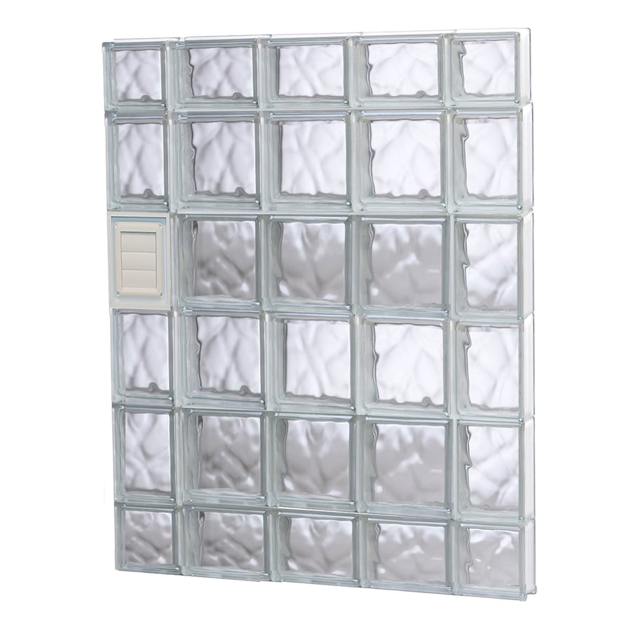 REDI2SET Wavy Glass Pattern Frameless Replacement Glass Block Window (Rough Opening: 36-in x 44-in; Actual: 34.75-in x 42.5-in)