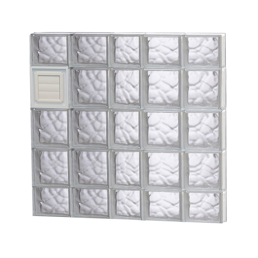REDI2SET Wavy Glass Pattern Frameless Replacement Glass Block Window (Rough Opening: 38-in x 36-in; Actual: 36.75-in x 34.75-in)